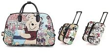 New Mickey Mouse Hand Luggage Wheeled Travel Bag Holdall Cabin Trolley Case UK