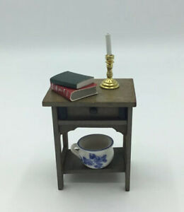 Dolls House Bedside Table With Accessories