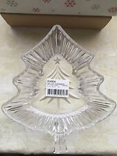 "Mikasa Glass Holiday Evergeen 8"" Tree Bowl Candy/Nut Dish WY153/258"