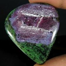 76.20CT. BEST FOR PENDANT NATURAL RUBY IN ZOISITE PEAR CABOCHON GEMSTONES