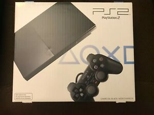 Sony Playstation 2 PS2 Slim Charcoal Black !!!BOX  ONLY!!! SCPH-90001 CB