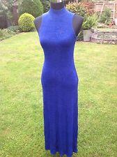 River Island Charlotte Halton Blue & Green Sparkly Glitter Evening Dress 10