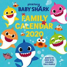 Baby Shark Family Calendar 2020, Family Planner Wall Decoration with Stickers