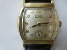 10K Gold Filled Watch 425 Movement Vintage Gruen Veri-Thin Precision 17 J Men's