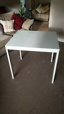 Extendable dining table with 1 extra leaf , white  80/120x70 cm