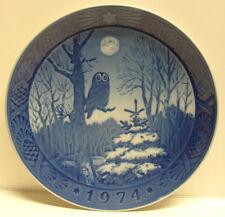 "1974 Royal Copenhagen ""Winter Twilight"" 7.25"" dia. Collector Plate Euc"