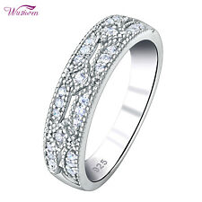 Wedding Band Engagement Eternity Ring For Women Round White AAA Cz Size 5-10