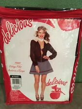 Delicious Ladies Vintage Pilot Outfit Size MEDIUM Halloween costume NEW