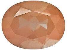 FELDSPAR REDDISH BROWN SUN SHIMMER MONGOLIAN MINED 9 X 7 1.50 CARAT OVAL FACETED