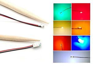 SMD LED 0402 0603 0805 1206 mit Microlitze Litze Kabel LEDs 7 Farben zur AUSWAHL