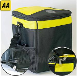 12v Car Van Cool Bag Box Cooler Fridge Travel Picnic Drinks Plug Beer Wine 13L