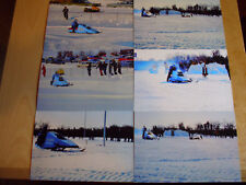 Vintage Snowmobile Polaris X-2 Flying Wedge Speed Run Drag Race Pictures LOT 6