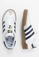 Adidas Originals Jeans Mens White Navy Brown Shoe Trainer Sneaker Sport 6-12