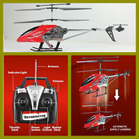 HELICOPTERO 54 cm EFLIGHT AUTOMATIC LANDING ROJO 3.5 Ch RC 27 MHz HELICOPTER
