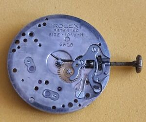 Vintage Original Rolex 6618 Manual Winding Movement For Parts Doesn't Work