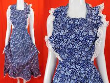 Vintage Now! Designs San Francisco Indigo Calico Print Prairie Pinafore Apron