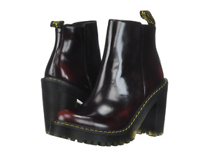 Dr. Martens MAGDALENA ARCADIA HEELED CHELSEA BOOT CHERRY RED, Women's Size 7