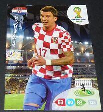 MANDZUKIC HRVATSKA CROATIE FOOTBALL CARD PANINI FIFA WORLD CUP BRASIL 2014