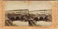 Russie San Pietroburgo Pont Anitchkov Foto Stereo Vintage Albumina c1870