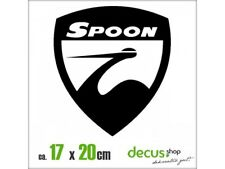 SPOON EMBLEM XL 1485 // Sticker JDM Aufkleber Frontscheibe