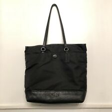Coach Leather + Nylon Black purse computer bag tote New Without Tags