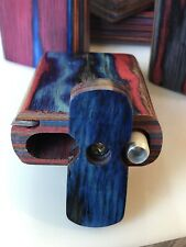Colorful 3� Wood Dugout Box with Poker and (2pc) 2� Metal One Hitter - Usa