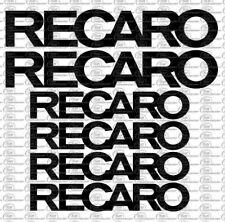 Recaro Logo Auto KFZ Aufkleber Set 6 Teilig Sponsoren Decals Farbauswahl Tuning
