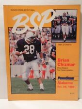 Beaver Stadium Pictorial football program: Oct. 1989 Penn State vs Alabama