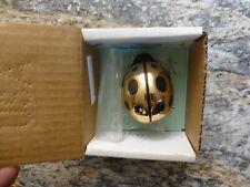 Vintage Michael Healy Brass Ladybug Doorbell Ringer, Unique, Nib