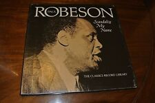 1976 Vinyl Records Paul Robeson Scandalize My Name 3 Lps with Booklet 43 Songs