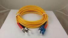 Fiber Optic Cable, SC to ST, Duplex, Single-Mode (3 Meter)