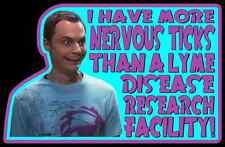 "00's TV Classic The Big Bang Theory Sheldon ""Nervous Ticks"" custom tee Any Size"