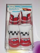 Disney Cars Crib Shoes Booties Two Pair 0-6 Mos Boys Girls Polyester Spandex NIB