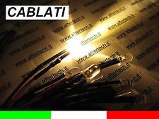 10 LED BIANCO CALDO 5mm 12.000mcd CABLATI 30cm CON RESISTENZA 12v CON CAVO A2B28