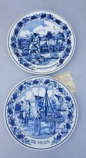 """Royal Goedewaagen ,delft blue plates """" the ground worker and The pile driver"""""""
