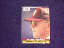joe gibbs  (washington redskins-head coach) 1991 pro set card #324 mint