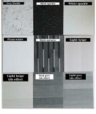10 Beige White Black Grey & Marble Shower Wall Panels PVC Bathroom Cladding 1.2m