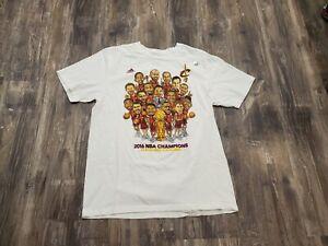 Men's Adidas 2016 Cleveland Cavaliers NBA Champions Caricature Shirt Sz L NWOT