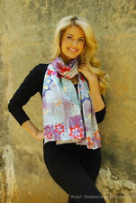 "OFFICIAL REX RAY COLLECTION STORE - Rex Ray -  Silk Scarves ""VICTOR/POWDER BLUE"""