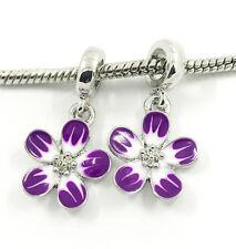 Fashion 2pcs Silver  European Charm Spacer Beads Fit Necklace Bracelet DIY