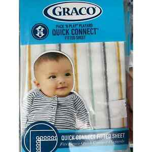 Graco Pack N Play Quick Connect fitted sheet Bennett Stripe Multi