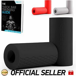 SteelGrip Fat Barbell Grips Dumbbell Thick Silicone Grips for Strength Training