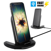 Rapide Chargeur Sans Fil Qi Induction Charge pour Apple IPhone Samsung Galaxy M1