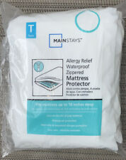 Mainstays Twin Waterproof Allergy Relief Zip Mattress Cover New Open Box