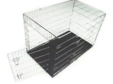 DOG CRATE 48x29x32 XLarge 2 Door Pet Kennel Cage Folding Portable Travel Metal