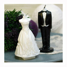 Tw 2pcs Cake Silicone Mold Candle Fondant Silicon Cake Wedding Dresses Party 3D