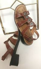 JOSEF SEIBEL Brown Womens SHOES SANDALS Rubber Sole SIZE 37  USA 6 - 6 1/2 GUC