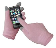 Touch Screen Magic Winter Gloves Mens Ladies For Smartphone Tablet - Pink