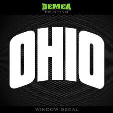 "Ohio University Bobcats - NCAA - White Vinyl Sticker Decal 5"""