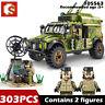 SEMBO Building Blocks Bricks Military Armored Communication Command Vehicle Toys